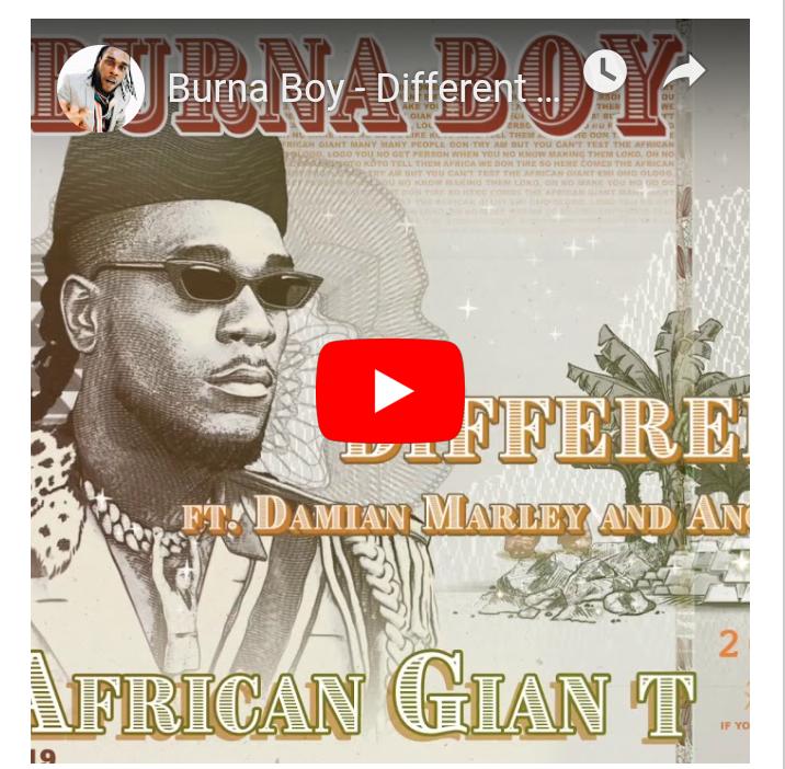 "Photo of Burna Boy – ""Different"" ft. Damian Marley x Angelique Kidjo"