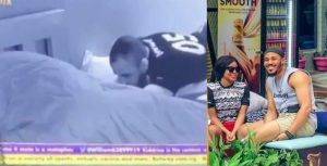 Fans React As Ozo Caresses Nengi Under The Duvet Yesterday