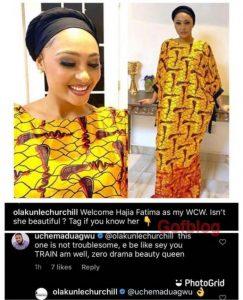 """Welcome Hajia Fatimah""- Tonto Dikeh's Former Husband Says As He Introduces New Girlfriend"