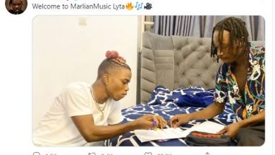 Photo of Jubilation As Popular Singer, Naira Marley Signs Lyta To His Record Label