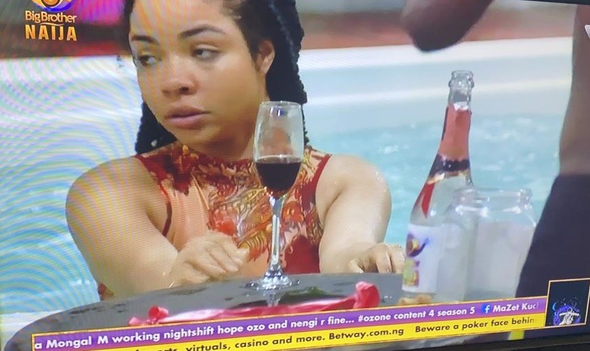 Photo of Nengi Spotted Sipping Wine And Swimming Excitedly Shortly After Ozo's Eviction
